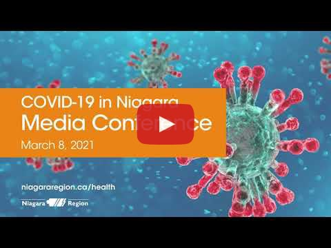 Video link for COVID-19 media conference on Mar. 8, 2021