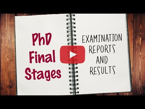8:55 PhD Final Stages - Timeline to Submission Graduate Research School Western Sydney University 416 views   4:25 9 Ways To Fail Your PhD! Graduate Research School Western Sydney University 16K views   26:15 Vlog 56 How to fail a PhD in 60 seconds Office of Graduate Research Flinders University 13K views   11:39 How to Write a Paper in a Weekend (By Prof. Pete Carr) Surviving and Thriving in Higher  Education Recommended for you  The viva: the examiner's point of view SchAdvStudy 14K views  After watching this, your brain will not be the same | Lara Boyd | TEDxVancouver TEDx Talks Recommended for you  Vlog 77 - Epistemology Office of Graduate Research Flinders University 1.9K views  Why Should I Do a PhD? Graduate Research School Western Sydney University 10K views  Oprah Winfrey Harvard Commencement speech | Harvard Commencement 2013 Harvard University Recommended for you  Put Your Ph.D, To Work: Planning for a Successful Career RCMI Program UPR Medical Sciences Campus 2.5K views  11 Secrets to Memorize Things Quicker Than Others BRIGHT SIDE Recommended for you  Vlog 96 Final Thesis Review Office of Graduate Research Flinders University 639 views  The Perfect Defense: The Oral Defense of a Dissertation Texas A&M University 483K views  Benefits Of Doing PhD Inspire n Ignite 155K  views  How to Start Your Presentation: 4 Step Formula for a Killer Intro Lighthouse Communications Recommended for you  Beth Karlin Ph.D. Thesis Defense ZarlabUCLA 77K views  How Research Questions Can Make or Break Your Project! Graduate Research School Western Sydney University 7.4K views  Will James get his PhD? - VIVA nottinghamscience 181K views  Job Interviewing Tips: How to Start Every Interview to Get a Job Tammy Kabell Recommended for you  What is the Confirmation of Candidature? Graduate Research School Western Sydney University 1K views  PhD Final Stages - Examination Reports and Results