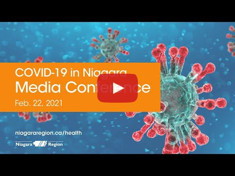 Video link for COVID-19 media conference on Feb. 22, 2021