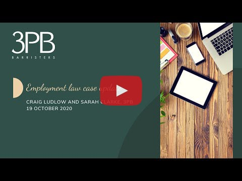This month's interesting employment law cases in a 25 minute recording