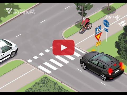 Animaatio: Liikennemerkki ohjaa