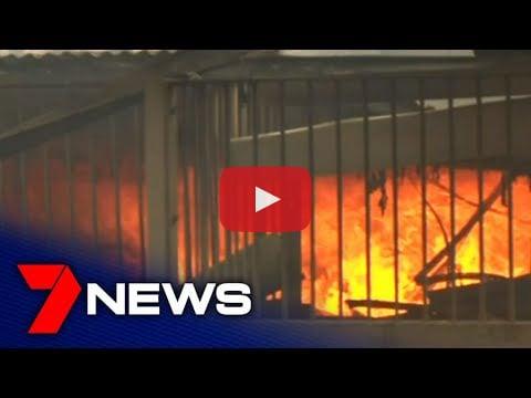 Bushfire wreckage