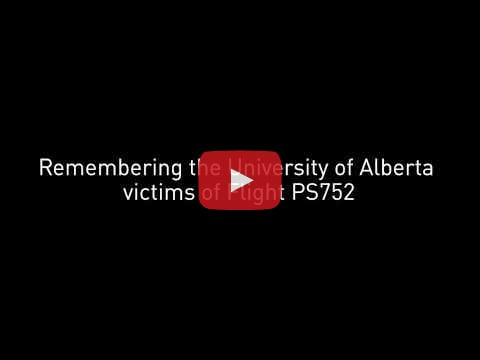 video remembering lives lost on Flight PS752