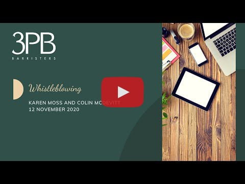 Whistleblowing: key concepts, injunctions, and updates on procedure