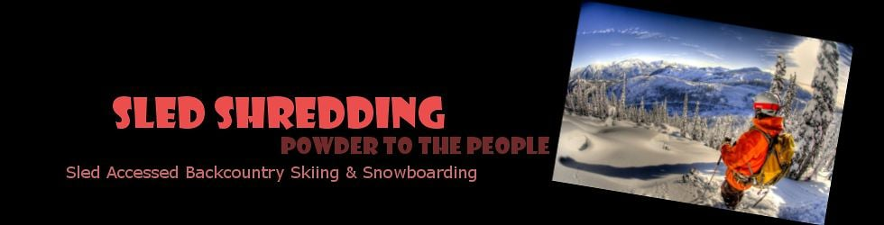 Sled Shredding - Snowmobiling for Powder Turns