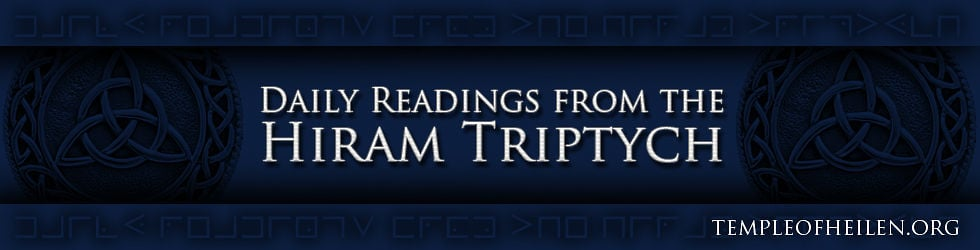 Daily Hiram Triptych Reading