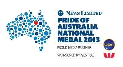 Pride of Australia National Medal 2013 - Proud Media Partner ( Channel 10 ) Sponsored by Westpac