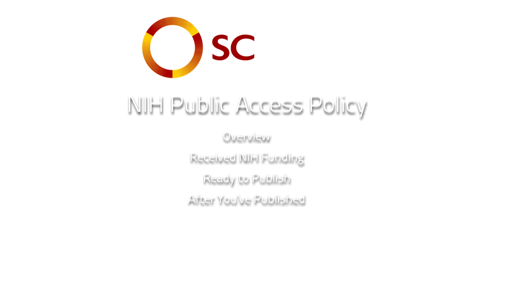 NIH Public Access Policy - Lynn Kysh