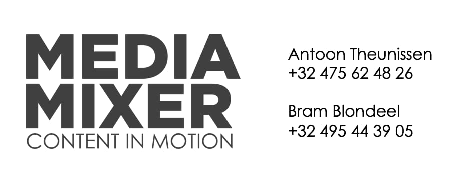 MediaMixer content in motion