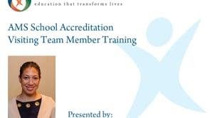 AMS School Accreditation Team Member Training