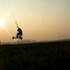 Nico kiteboarding