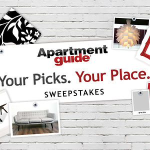 Enter the apartment guide sweepstakes & win $250 per week or $10,000.