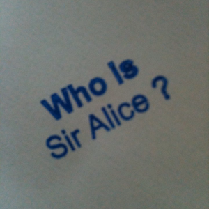 Profile picture for Sir Alice