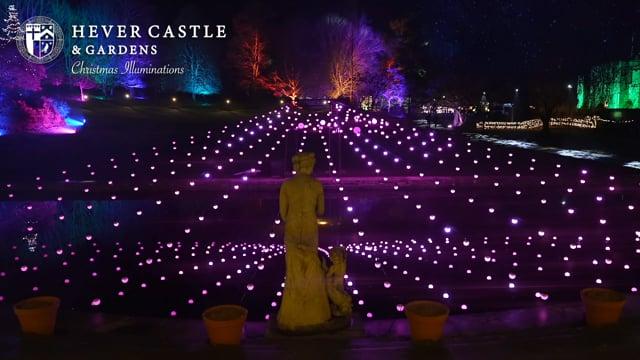 Hever Castle and Gardens Christmas Illuminations 2020