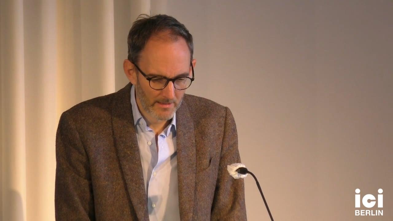 Talk by Andreas Mayer