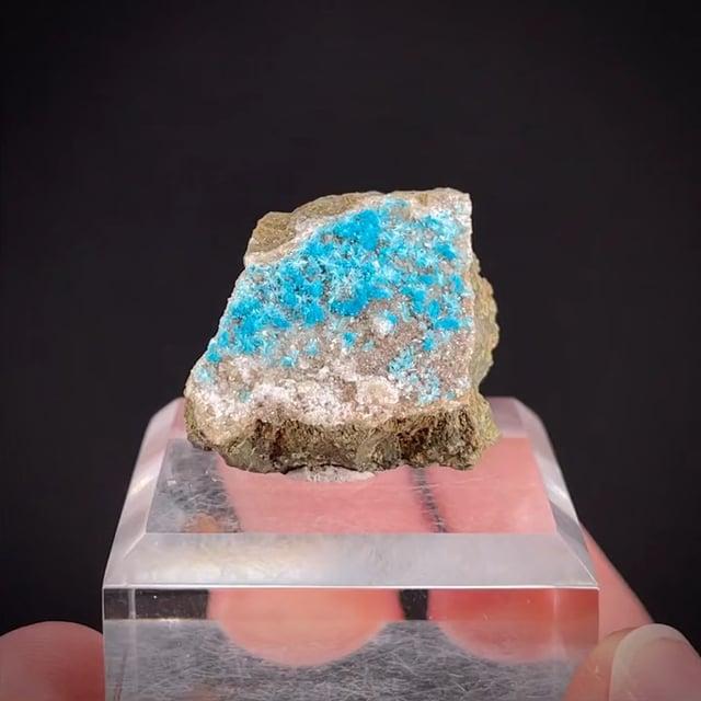 Cavansite with Heulandite and Calcite