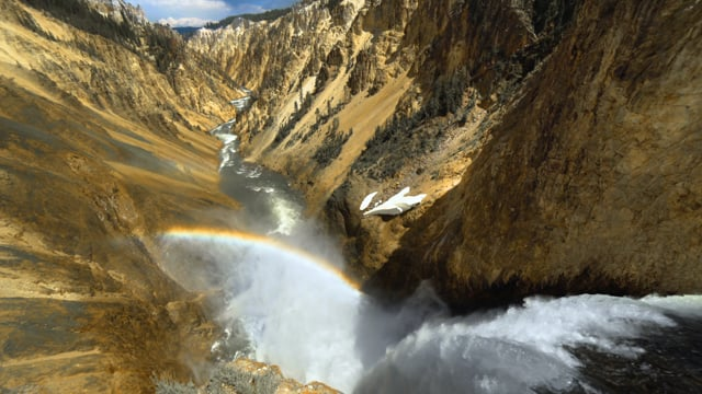 The Mighty Sound of Yellowstone Waterfall