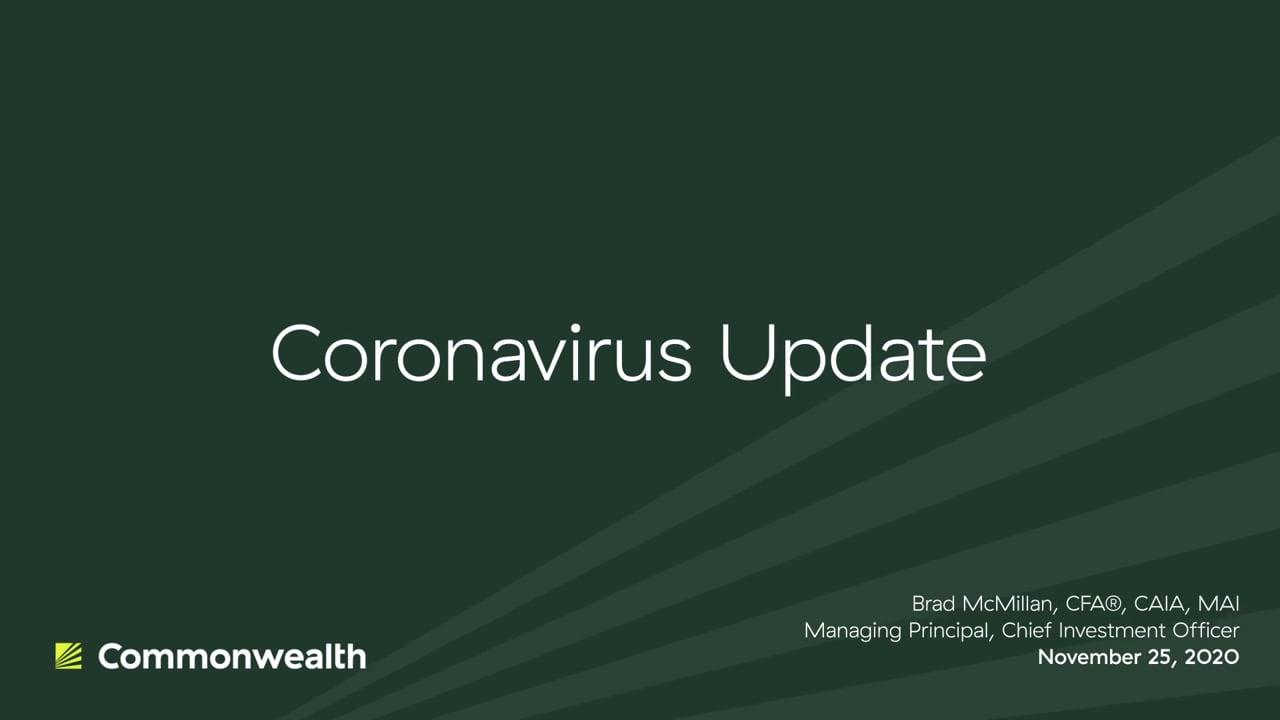 Coronavirus Update from Commonwealth CIO Brad McMillan, November 25, 2020