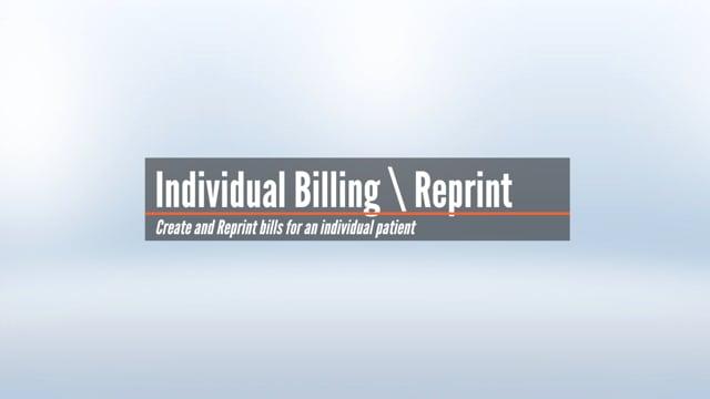 Individual Billing & Reprint