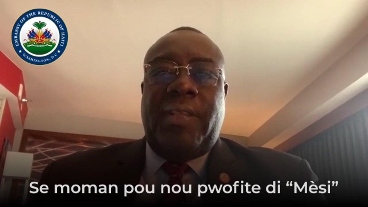 Message de l'Ambassadeur Edmond