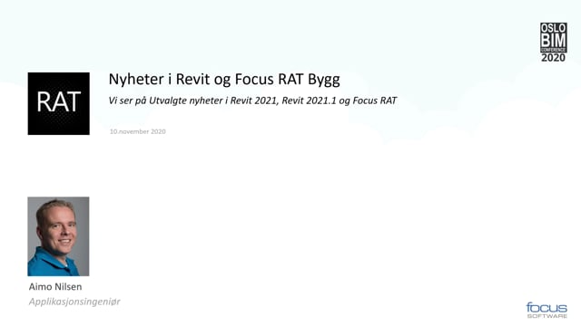 BIMCon 2020 – Byggeteknikk Nyheter i Revit og Focus RA