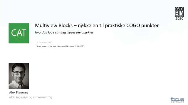 BIMCon 2020 – Landskap: Multiview Blocks – nøkkelen til praktiske COGO punkter