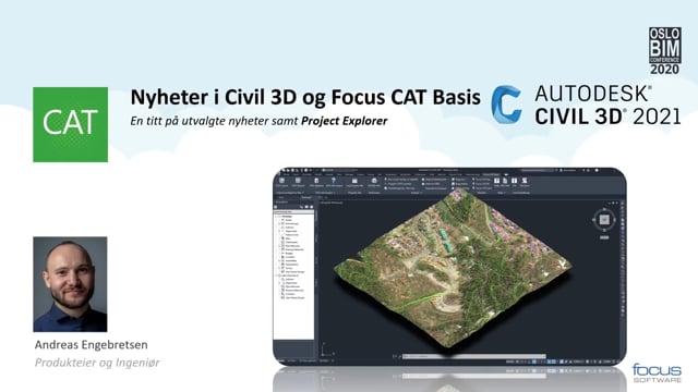 BIMCon 2020 – Veg: Nyheter i Focus CAT, og Civil 3D