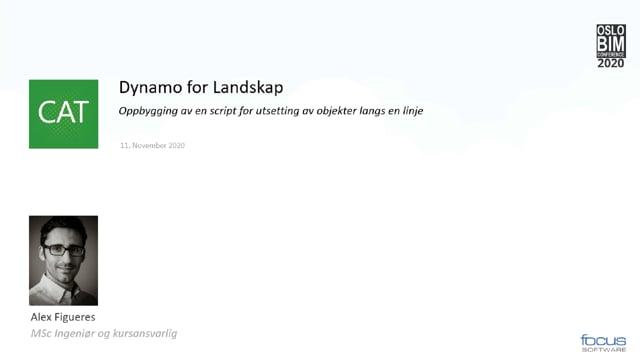 BIMCon 2020 – Landskap: Dynamo for Landskap