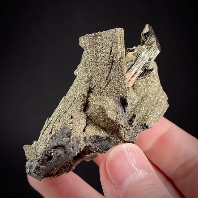 Enargite Coated With Pyrite, and Pyrite