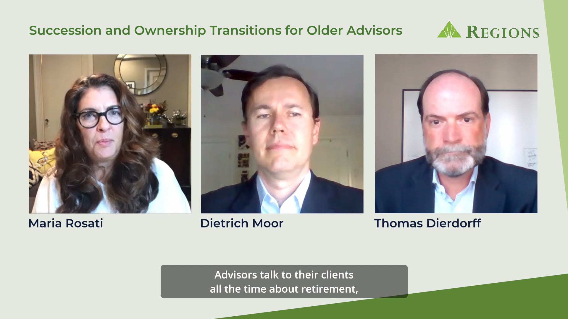 Regions - Succession and Ownership Transitions for Older Advisors