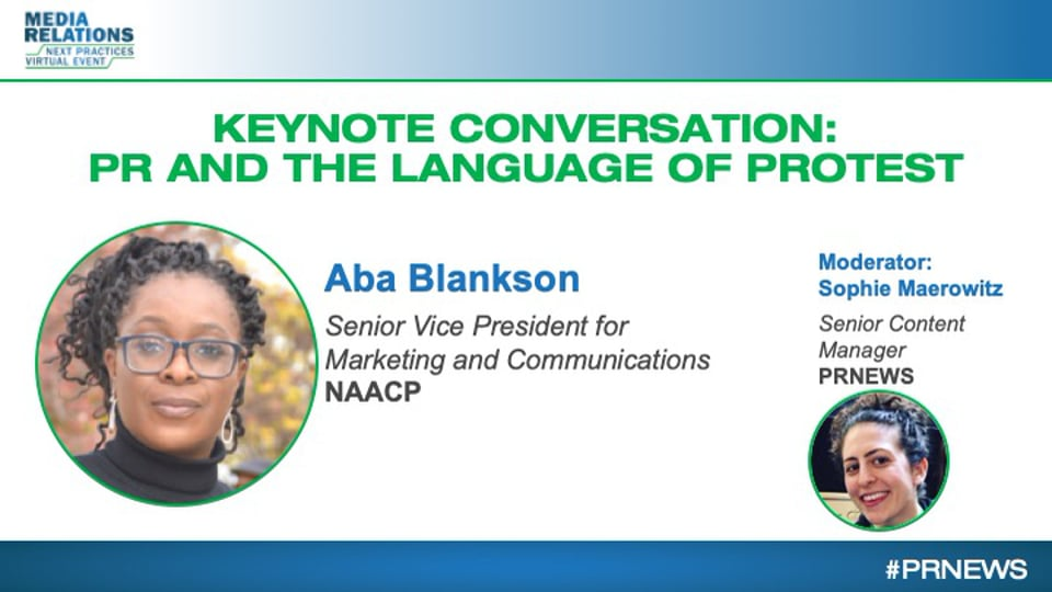 KEYNOTE: NAACP's Aba Blankson on PR and the Language of Protest in 2020