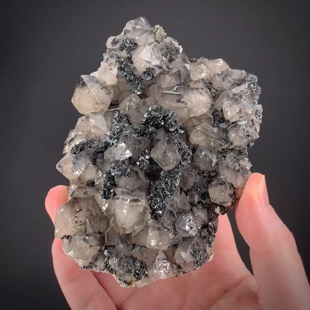 Hematite on Quartz on Hematite var. Kidney Ore