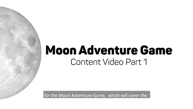 Moon Adventure Game Content Training Video Part 1
