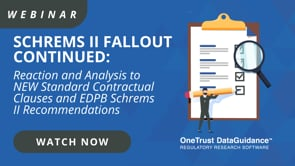 Schrems II Fallout Reaction and Analysis of the new EDPB Guidelines