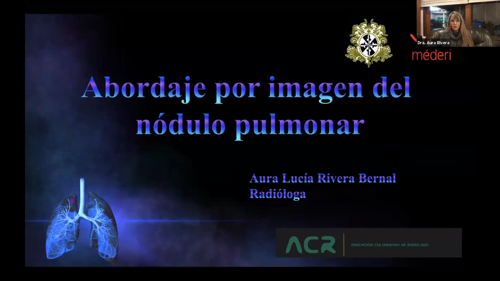 Pulmón_Abordaje por imagen del nódulo pulmonar
