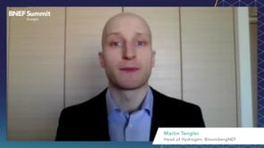 """Watch """"<h3>BNEF Talk: Hydrogen: Why This Time Is Different by Martin Tengler, Head of Hydrogen, BloombergNEF</h3>"""""""
