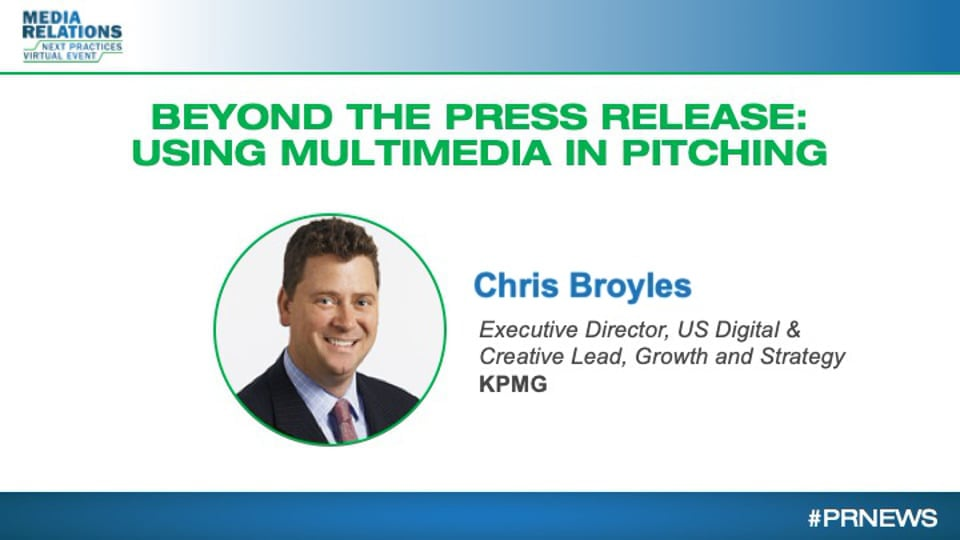 Beyond the Press Release: Using Multimedia in Pitching