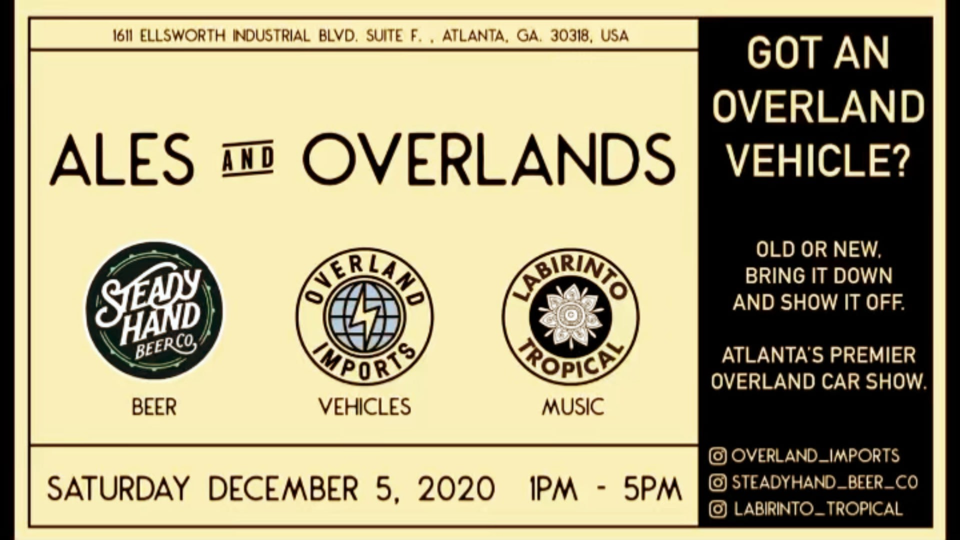 Ales and Overlands 12.5.2020