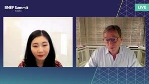 "Watch ""<h3>Huibert Vigeveno, Downstream Director, Shell interviewed by Yushen Liu, Head of Greater China Business Development, BloombergNEF</h3>"""