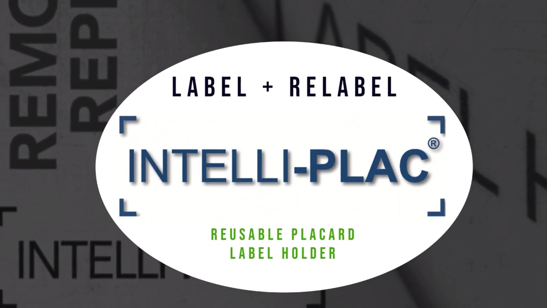 INTELLI-PLAC® CONTAINER Placard Label Holders
