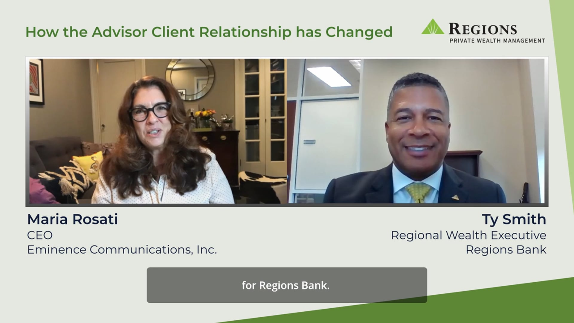 Regions - How the Advisor Client Relationship has Changed