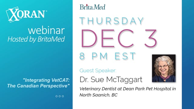 Webinar: Dr. Sue McTaggart - Integrating VetCAT: The Canadian Perspective