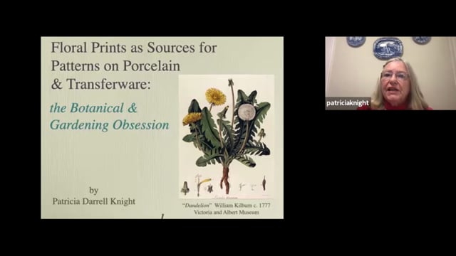 Floral Prints as Sources for Patterns on Porcelain and Transferware; the Botanical and Gardening Obsession