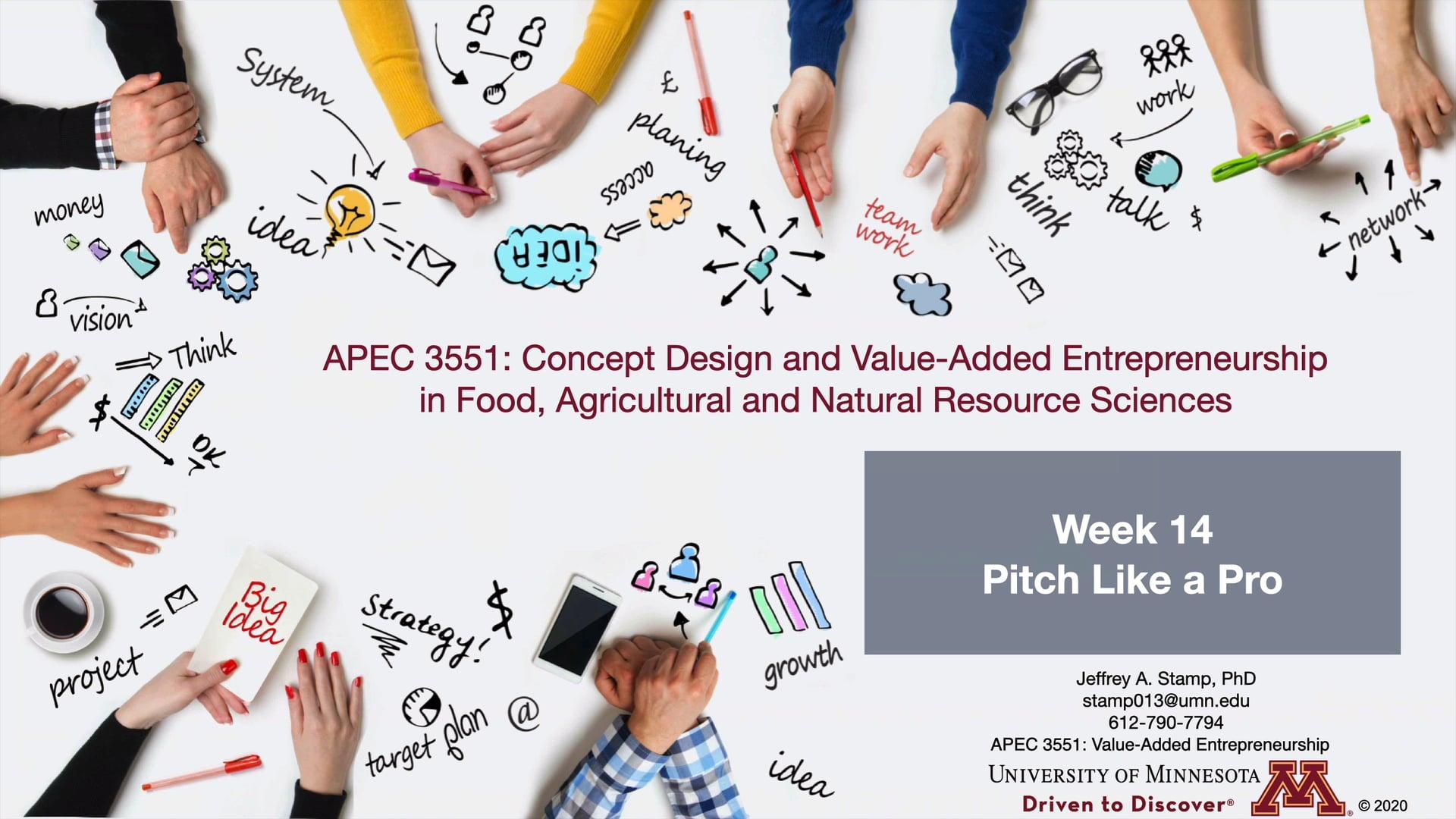 APEC 3551 F20 Week 14 - Pitch Like a Pro