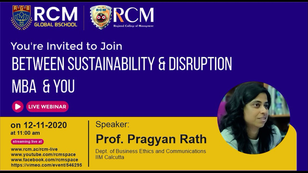 Between Sustainability & Disruption (MBA and YOU)