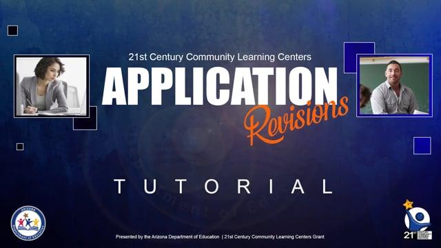 21st CCLC Application Revision Tutorial Version 1