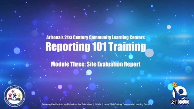 21st CCLC Reporting 101 Mod 3