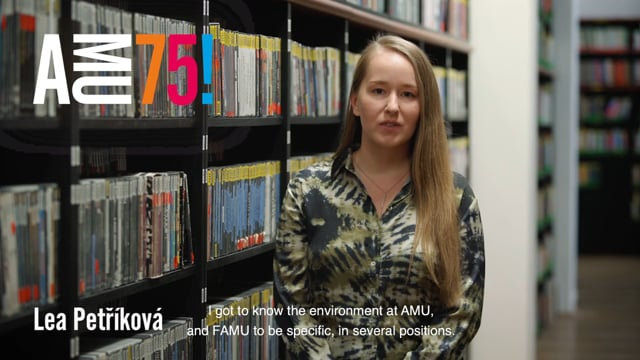 Lea Petříková is a graduate of FAMU's Center for Audiovisual Studies and a fresh laureate of the prestigious Jacques Derrida Prize. She is currently finishing her doctoral studies at FAMU. She considers AMU a unique space for creating and thinking. What does she wish the school on its anniversary?