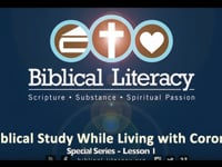 Mark Lanier: Biblical Study While Living with Corona - Lesson 1