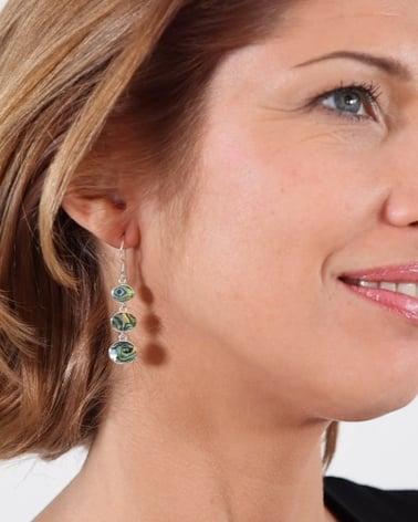 Video: Pendants d'oreille Nacre Abalone et Argent massif forme ovale argent massif 925